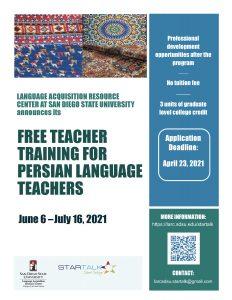STARTALK Persian Teacher program flyer2021