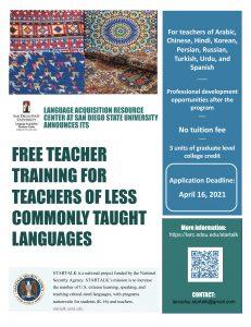 STARTALK Teacher program flyer2021 v2