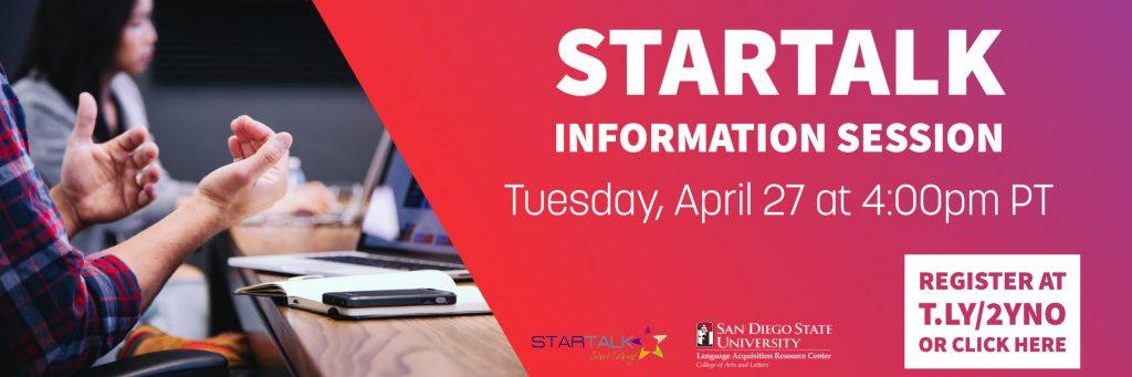 STARTALK info 2021 flyer